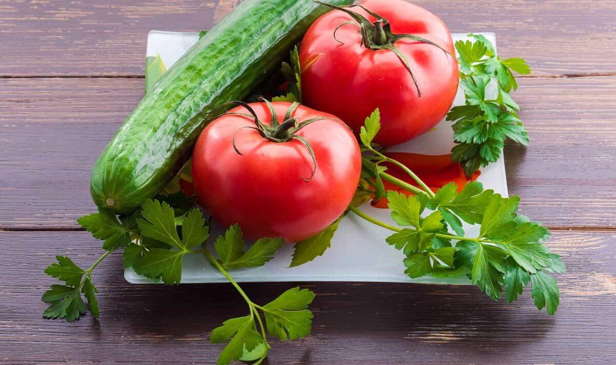 Ogórek i pomidor